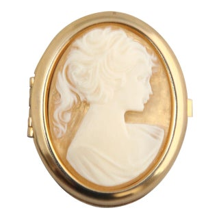 Vintage Oval Cameo Trinket Box