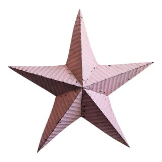 Pink Painted Metal Barn Star