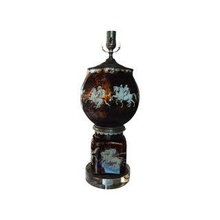 Italian Neoclassical Reverse Decorated Lamp