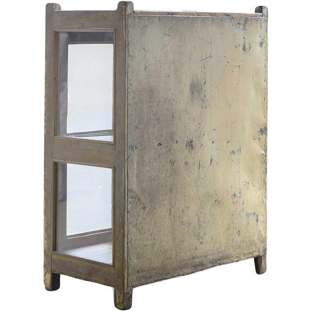 Vintage Rustic Yellow Cabinet - Image 4 of 5