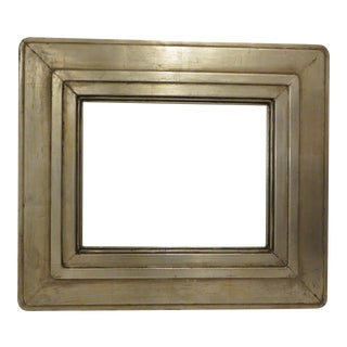Vintage 40's Modernist / Art Deco Silver Leaf Wide Frame