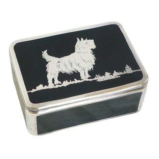 Black Amethyst Glass Scottie Dog Box