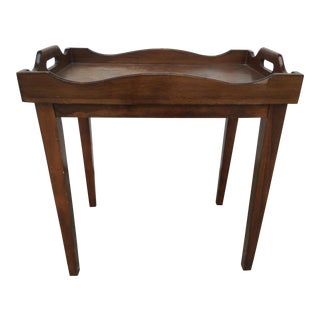 Vintage Solid Wood Tray Table