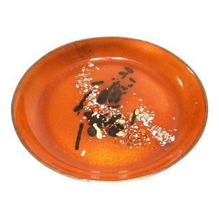 Mid-Century Statham Enameled Copper Dish