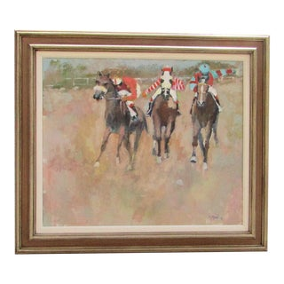 Eleanor Ingersoll Maurice Horse Race Oil Painting