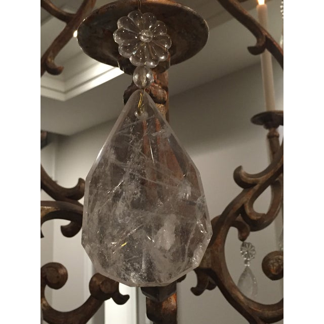"""Image of """"Borgese"""" Therien Rock Crystal Chandelier"""