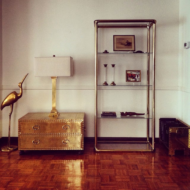 Brass Etagere in the Manner of John Widdicomb - Image 9 of 9