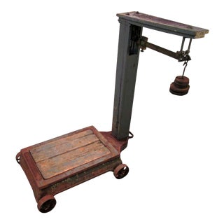 Antique Fairbanks Industrial Farm Scale