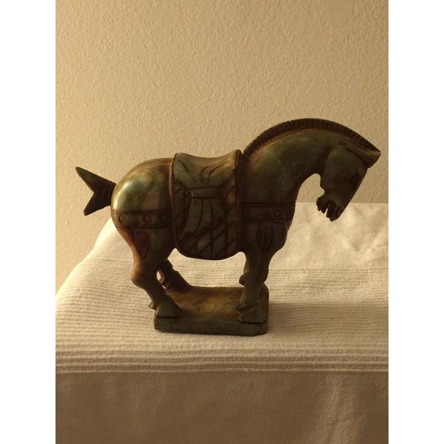 Image of Heavy Marble Trojan Horse Figurine