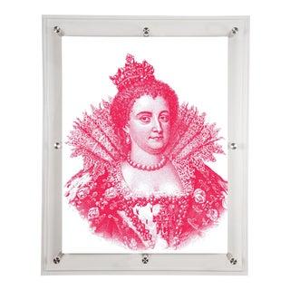 Mitchell Black Home Acrylic Framed Fuchsia Medici Portrait Print