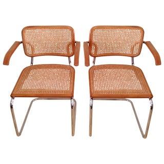 Breuer Cesca Style Cane Armchairs - A Pair
