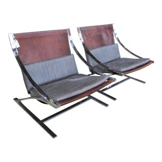"""Vintage Mid-Century Modern """"Z"""" Chairs - A Pair"""