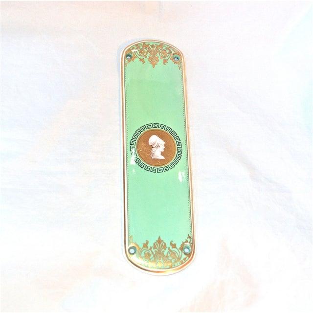 Classical porcelain door finger plate chairish for Door finger plates