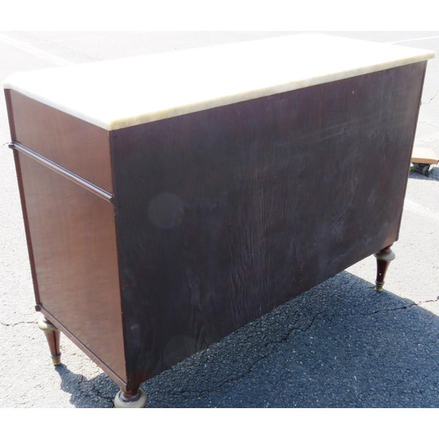 Jansen Style Marble Top Commode - Image 5 of 5