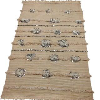 Vintage Moroccan Handira Wedding Blanket