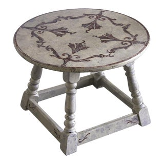 Antique French Round Painted Table circa 1900