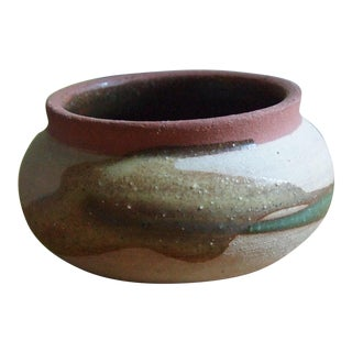 Abstract Glazed Small Pottery Bowl