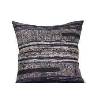Indigo Batik Pillow-Vintage