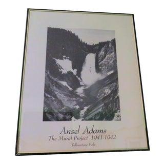 "Vintage Ansel Adams ""Yellow Stone Falls"" Poster"