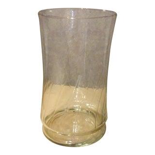 Large Hand Blown Hurricane Vase