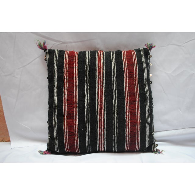 Image of Vintage Moroccan Sequin Killim Pillow