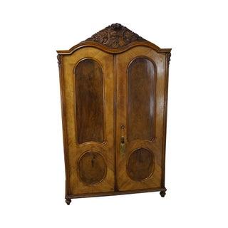 Antique 19th Century Burl Wood European Armoire