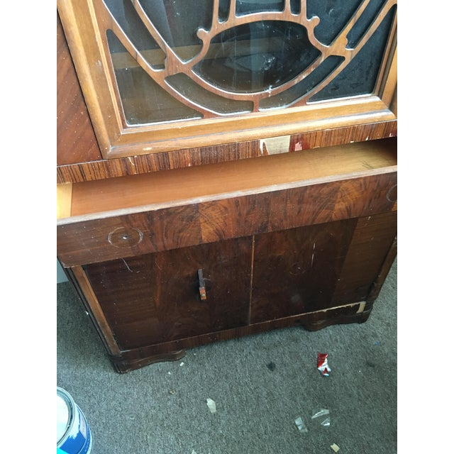 Vintage Waterfall Cabinet or Bar - Image 9 of 9