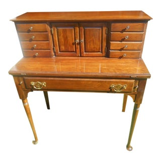 Queen Anne Style Pennsylvania House Solid Walnut Writing Desk