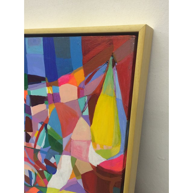 Cheerful Cubist Inspired Abstract Painting by Nich - Image 2 of 4