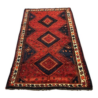 Hand Woven Wool Persian Rug - 5′1″ × 9′7″