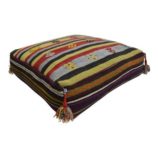 Turkish Hand Woven Kilim Floor Cushion Sitting Pillow Cover