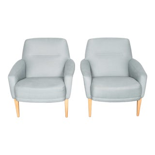 Pair of reupholstered Midcentury chairs by Dux of Sweden