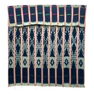 Vintage Pink & Indigo African Baule Cloth Textile