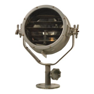 Vintage Us Metal Naval Signal Light and Spot Light