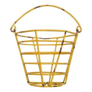 Small Vintage Yellow Egg Basket