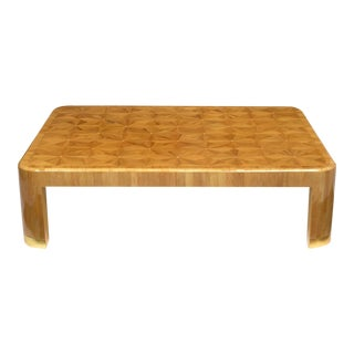 Ron Seff Starburst Bamboo Marquetry Cocktail Table ca. 1980