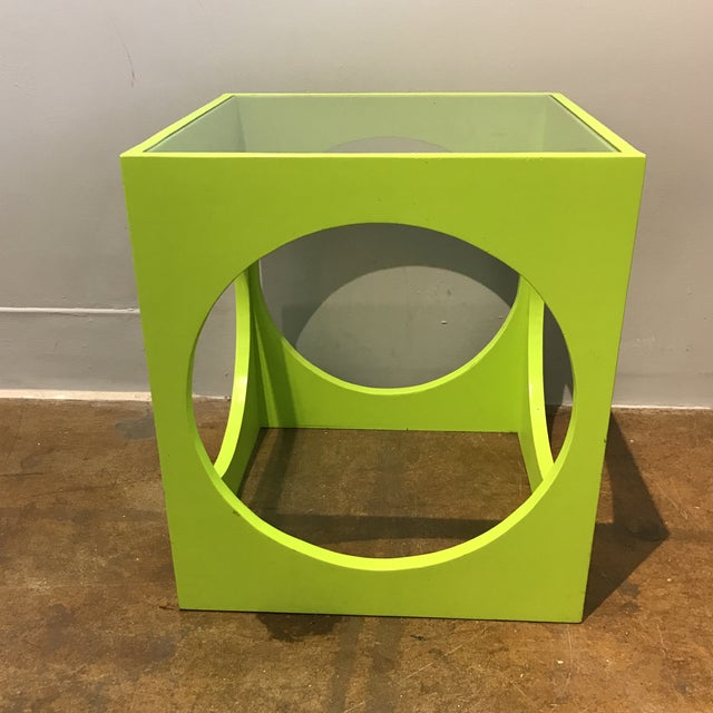 Adrian Pearsall Lime Green Cube Table - Image 4 of 6