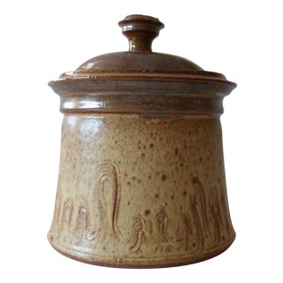 Covered Pottery Canister