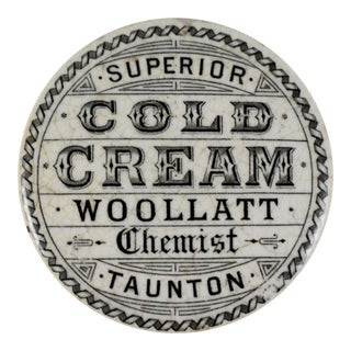 Victorian Staffordshire Transfer Printed Cold Cream Pot