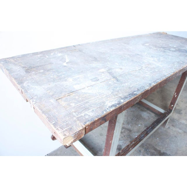 White Painted Wooden Work Table - Image 4 of 4