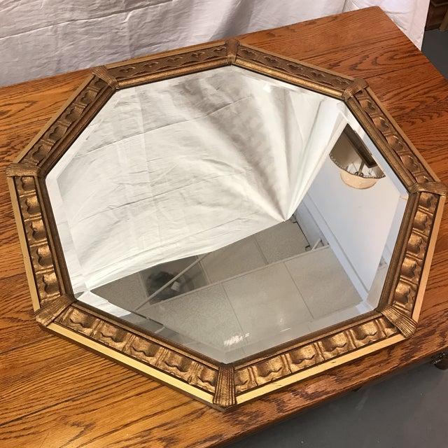 Vintage Octagonal Gilded Mirror - Image 4 of 7