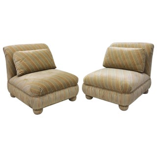 Milo Baughman Matching Slipper Chairs - A Pair