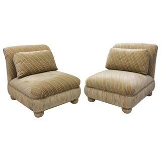 Milo Baughman Matching Slipper Chairs - A Pair