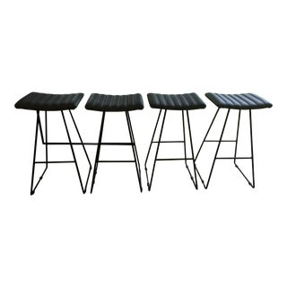 Contemporary Grey/Black Stools- Set of 4