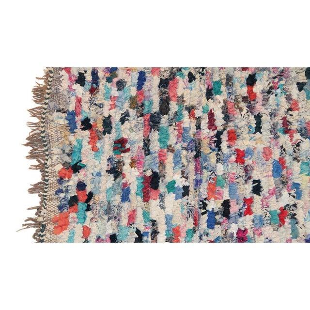"Vintage Boucherouite Moroccan Carpet - 7' X 4'4"" - Image 2 of 4"