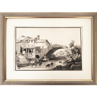 1847 French Country Landscape Drawing