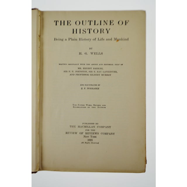 Vintage 1921 The Outline of History by H. G. Wells Illustrated Hardcover Book - Image 3 of 8