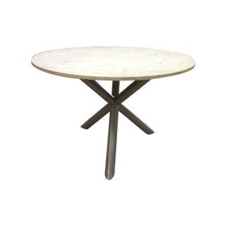 Vintage Modern Marble Top X Base Dinette Table
