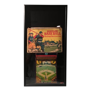 Antique Framed Baseball Arcade Game