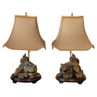 Foo Dog Table Lamps - A Pair